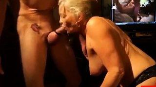 Geiler Oma Deepthroatporno