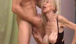 Eine extrem dünne Oma