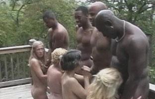 Sex Orgie mit Omas und Schwarzen